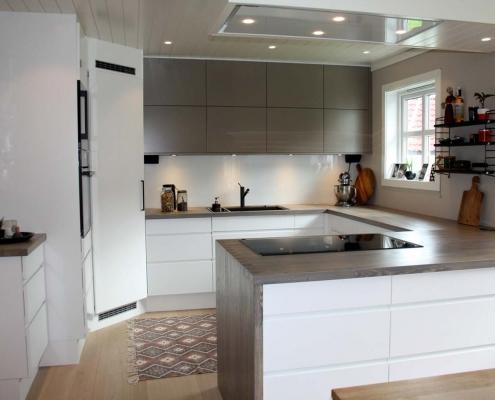 Stilig kjøkken levert i Fredrikstad Rene Linjer